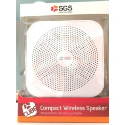 COMPACT WIRELESS SPEAKER ALTOPARLANTE BLUETOOTH BIANCO