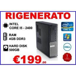 PC DELL OPTIPLEX 790DT I5-2400 4GB 500GB DVD-RW WIN7PRO RIGENERATO