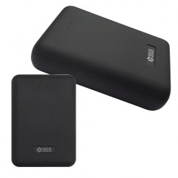 Powerbank 10000mAh Compatto Dual USB Output 2,1A IC Intelligente SGS Nero