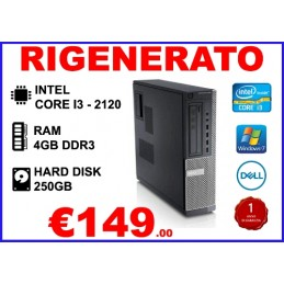 PC DELL OPTIPLEX 790DT I3-2120 4GB 250GB DVD-RW WIN7PRO RIGENERATO